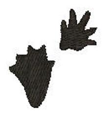 Beaver Tracks embroidery design