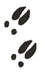 White Tail Deer Tracks embroidery design