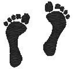Human Feet Prints embroidery design