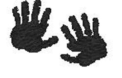 Human Hand Prints embroidery design