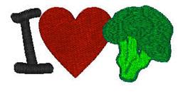 I Love Broccoli embroidery design