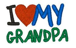 I Love My Grandpa embroidery design