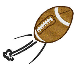 Flying Football embroidery design