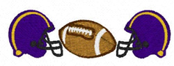 Helmets And Ball embroidery design