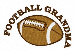 Football Grandma embroidery design