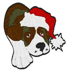 Christmas Pooch embroidery design