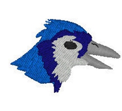 Blue Jay Head embroidery design