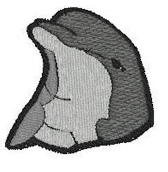 Dolphin Head embroidery design