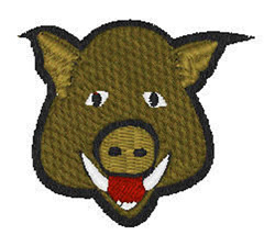 Wild Pig Head embroidery design