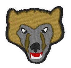 Wolverine Head embroidery design