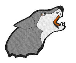 Wolves Mascot Head embroidery design