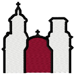 Mission Church embroidery design