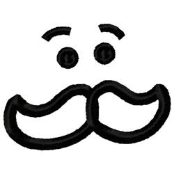 Mustache man embroidery design