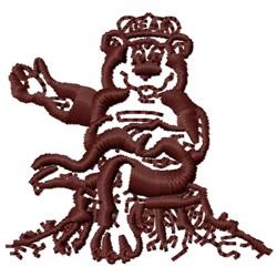 Perkins Bear embroidery design