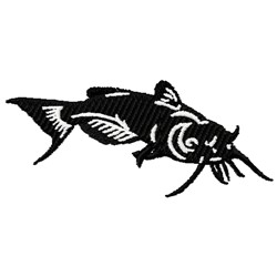 Catfish embroidery design