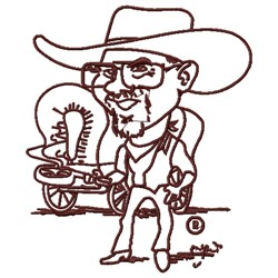Cowboy Cartoon embroidery design