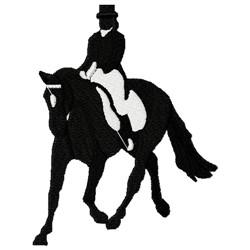 Equestrian Rider Silouette embroidery design