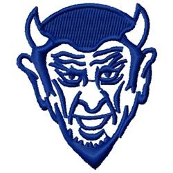 Blue Devil embroidery design