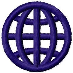 DV Globe embroidery design