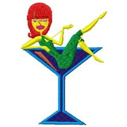 original martini girl embroidery design