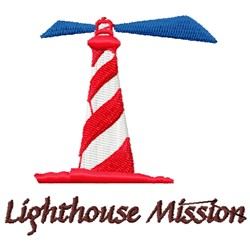 Lighthouse Mission Logo embroidery design