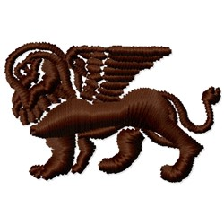 Winged Lion embroidery design
