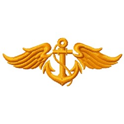 Winged Anchor embroidery design