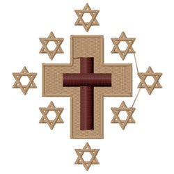 Star of David and Cross embroidery design