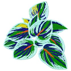 Hosta Leaves embroidery design