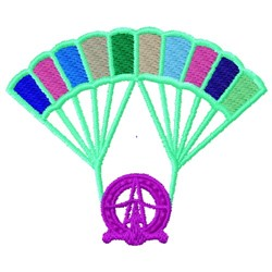 Parachute Aircraft embroidery design