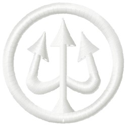 Trident Logo embroidery design