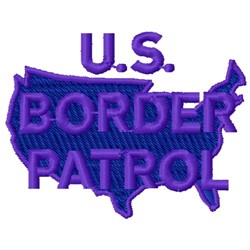 Border Patrol embroidery design