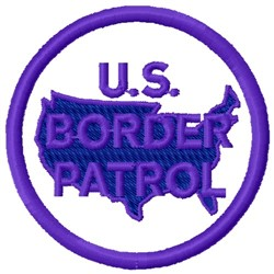 Us Border Patrol embroidery design