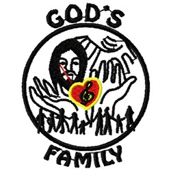Gods Family embroidery design