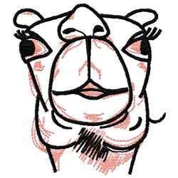 Camel Face embroidery design