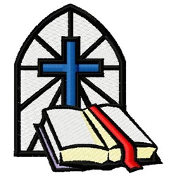 Bible & Cross embroidery design