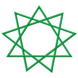 Bahai Star embroidery design
