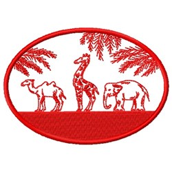 Wildlife Circle embroidery design