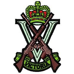 Royal Victoria Regiment embroidery design