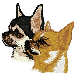 Chihuahuas embroidery design
