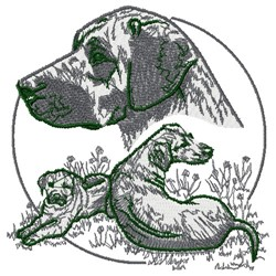 Rhodesian Ridgeback embroidery design