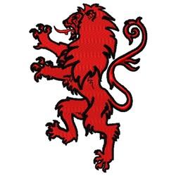 Rampant Lion embroidery design