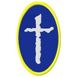 Cross Logo embroidery design