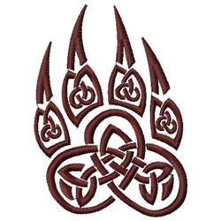 Celtic Wolf Paw embroidery design