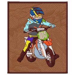 Motocross Bike embroidery design