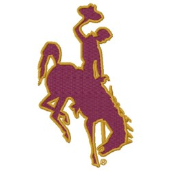 Cowboy & Bronco embroidery design
