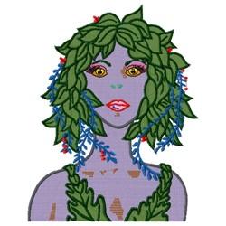 Leaf Lady embroidery design
