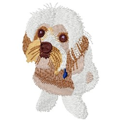 White Dog embroidery design
