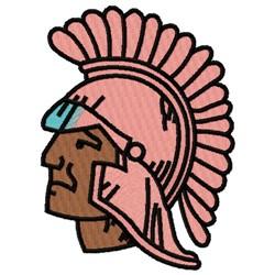 Trojan Head embroidery design