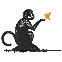 Ape & Canary embroidery design